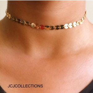 Jewelry - ✨  Gold Filled Coin Disc Choker Necklace ✨